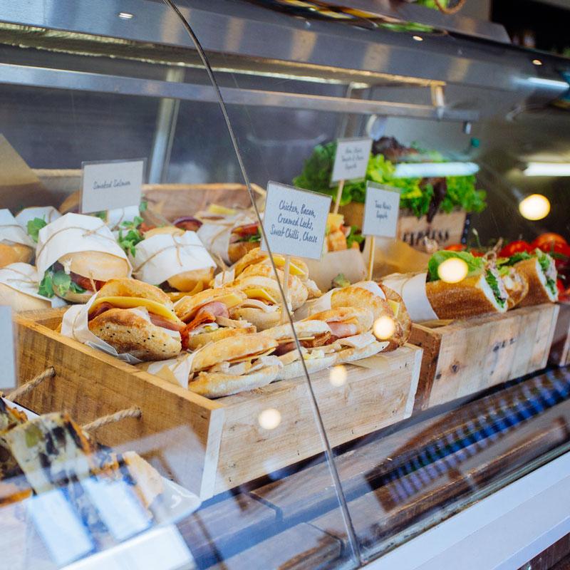 Sandwiches in the deli